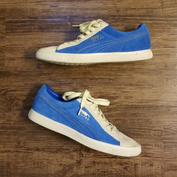 new product 996a6 2523a Puma Clyde Snakeskin Deep Blue Sneakers NWT